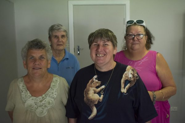 Front L-R: Dearnne Callaghan and Cherie Lovett; Back L-R: Deitre Jackson and Maree Mulligan