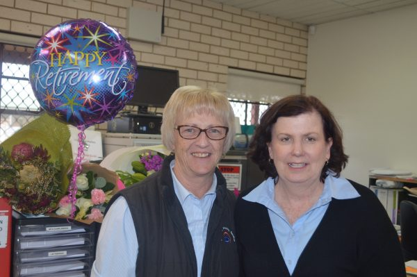 Recent CDS retiree Roberta Stone with Donna Little the new Residential Team Leader.