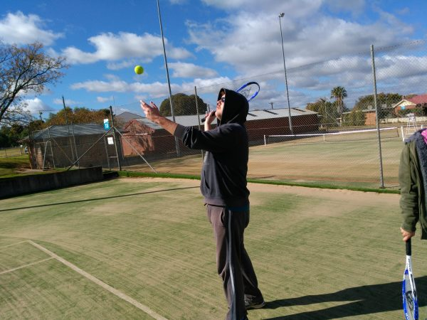 Tyrone Nightingale of CDS likes to play tennis. Tennis is apart of the activities program for NDIS participants at CDS.