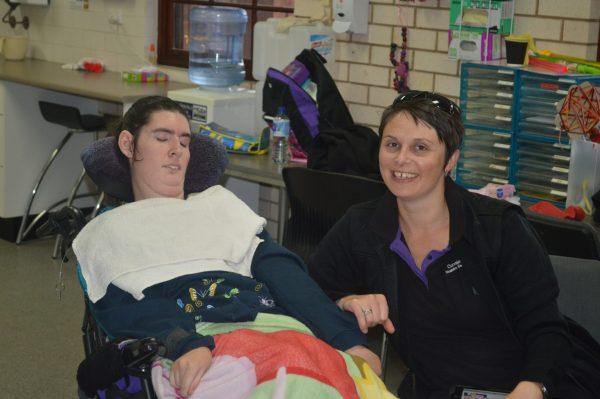 CDS client Amanda Clifton with support worker Indigo Kriedemann