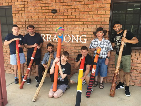 Clients at CDS loved the didgeridoo workshop