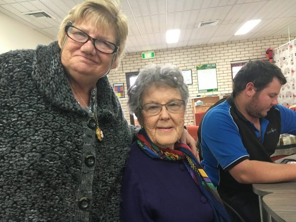 Jannette Lovett of CDS with former board member Kittie Dwyer
