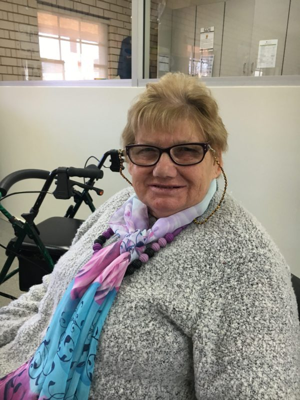 Jannette Lovett can't wait to come to CDS each day to work and catch up with friends.