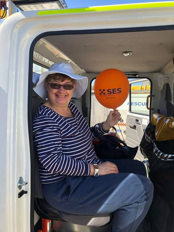 Karen Willis had a ball at the SES Open Day